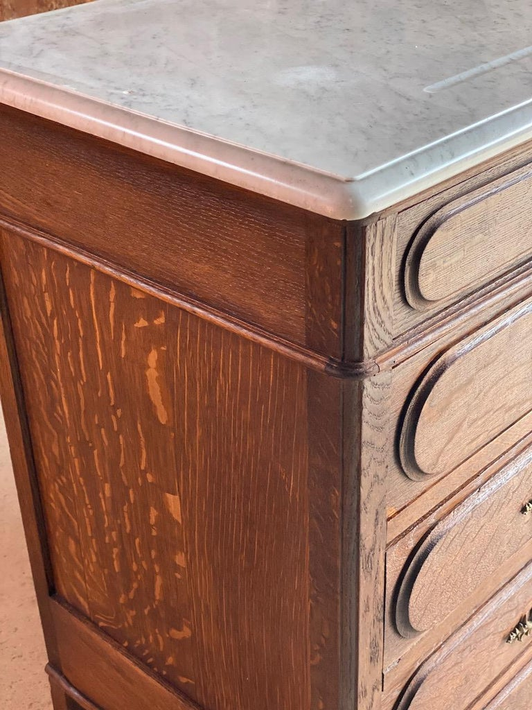 Antique Napoleon III Marble Commode Chest of Drawers, France circa 1870 Number 4 1