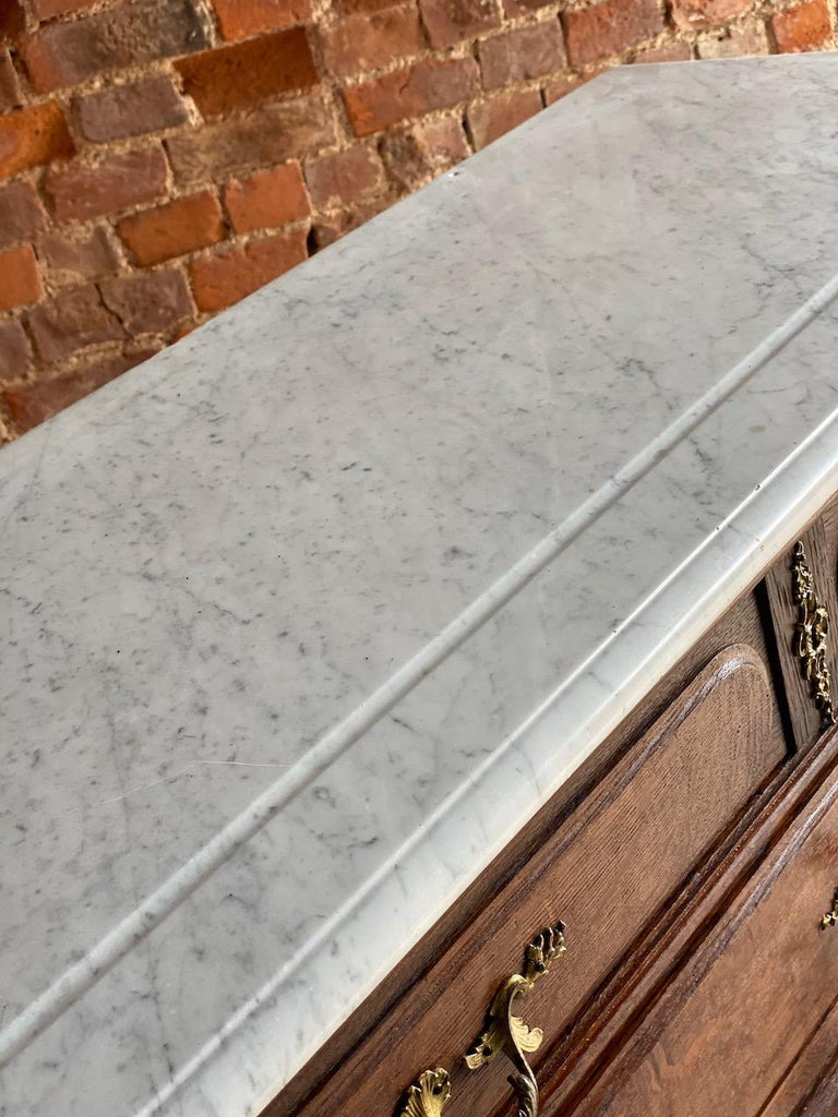 Antique Napoleon III Marble Commode Chest of Drawers, France circa 1870 Number 4 4