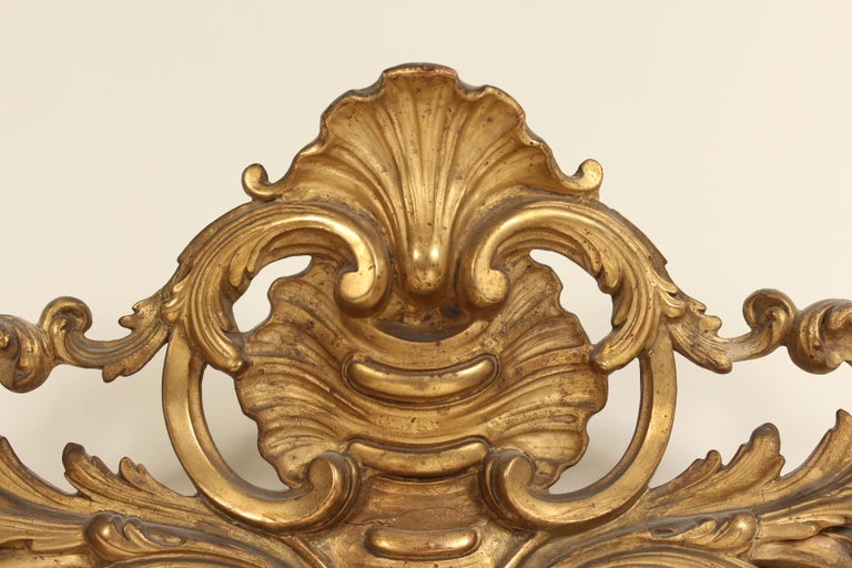 Antique Napoleon III Style Giltwood Mirror For Sale 4