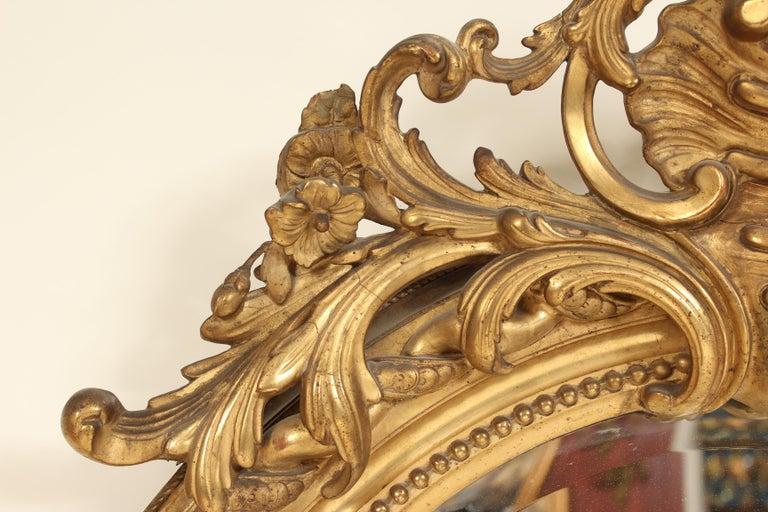 Antique Napoleon III Style Giltwood Mirror For Sale 6