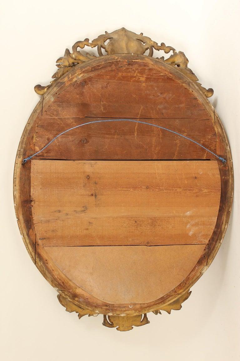 Antique Napoleon III Style Giltwood Mirror For Sale 8
