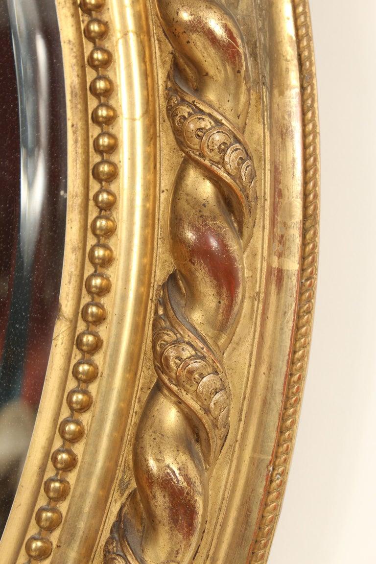 Antique Napoleon III Style Giltwood Mirror For Sale 1
