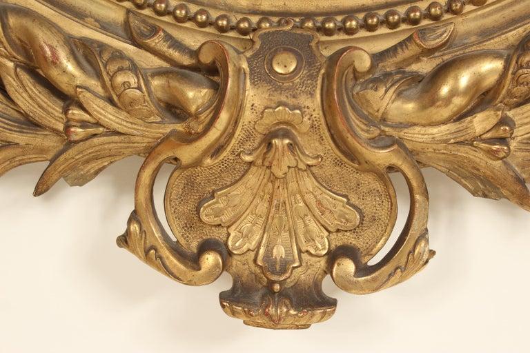 Antique Napoleon III Style Giltwood Mirror For Sale 2
