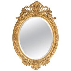 Antique Napoleon III Style Giltwood Mirror