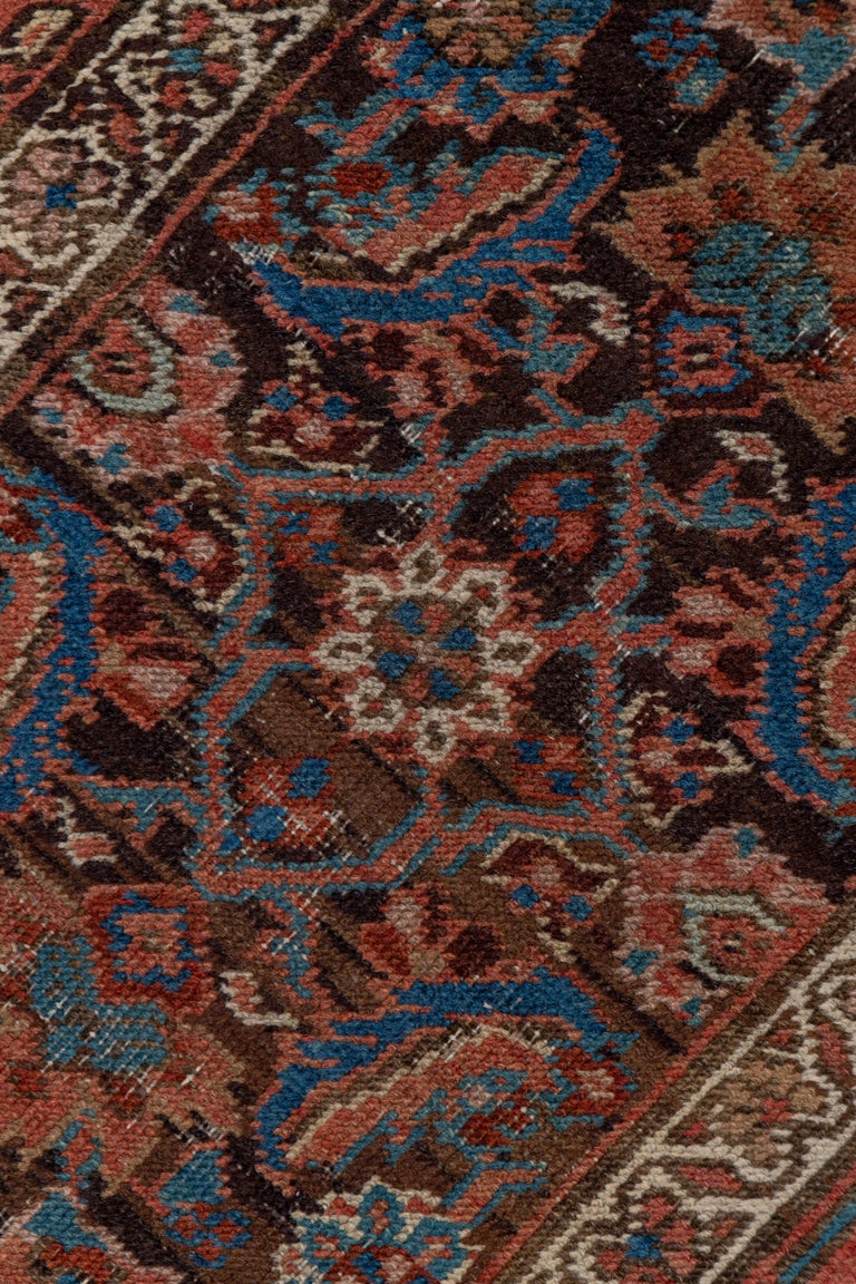 Persian Antique Narrow Heriz Runner For Sale
