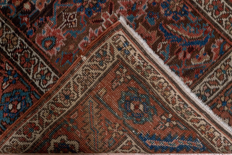Antique Narrow Heriz Runner In Excellent Condition For Sale In New York, NY