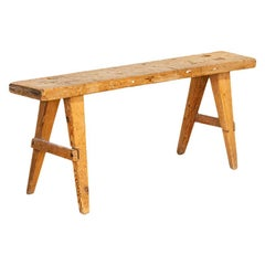 Antique Narrow Pine Swedish Bench