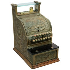 Antique National Candy Store Brass Cash Register, circa 1900