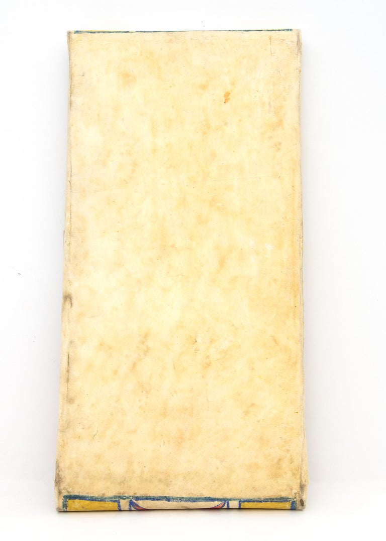 19th Century Antique Native American Abstract Painted Parfleche Envelope, Plateau, circa 1890 For Sale