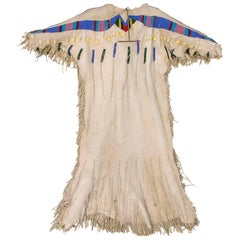 Antique Native American Beaded Hide Dress, Yakima, Plateau Region, circa 1890