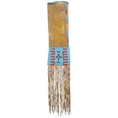 Antique Native American Beaded Tobacco Bag 'Pipe Bag', Sioux, 19th Century
