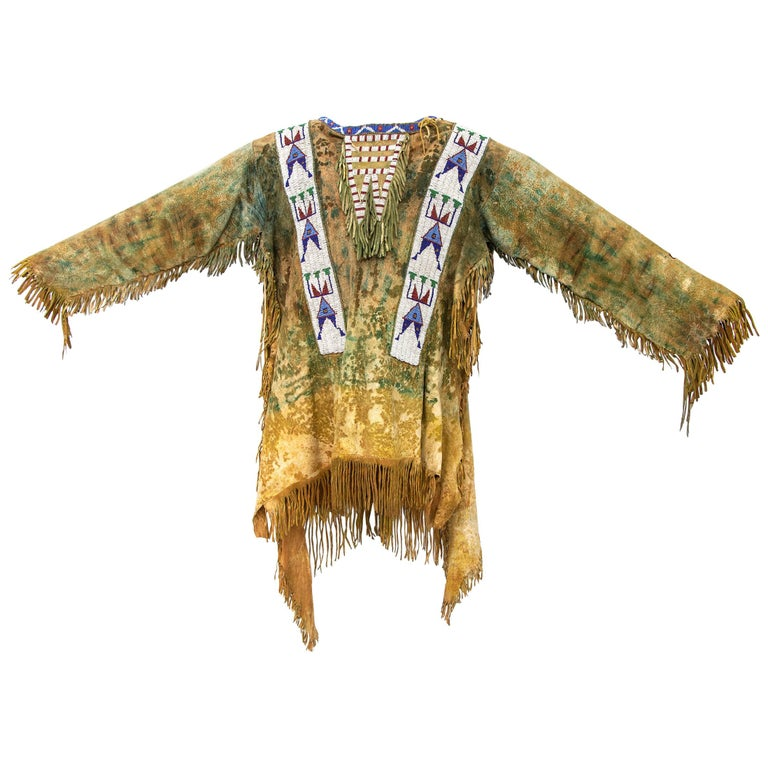 Antique Native American Beaded War Shirt, Sioux 'Plains Indian', circa 1880s For Sale