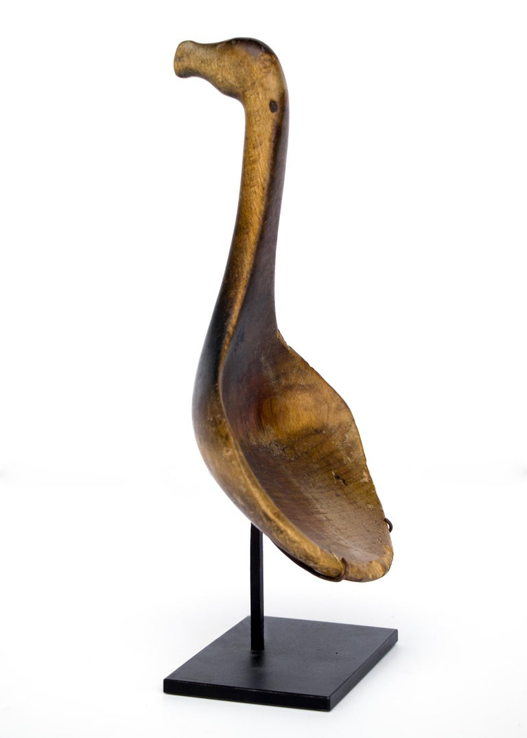Antique Native American Carved Wood Horse Effigy Spoon, Mesquakie, circa 1865 For Sale 1