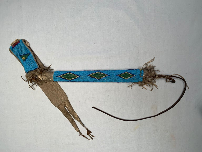 Antique Native American Sioux Horse Quirt In Excellent Condition For Sale In Cortlandt Manor, NY