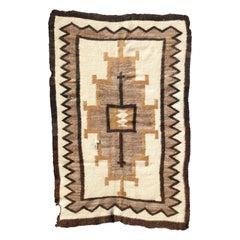 Antique Native Indian Navajo Saddle Blanket