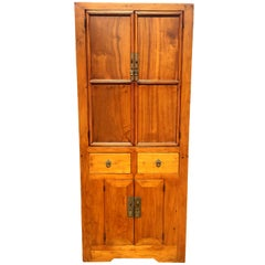 Antique Natural Finish Narrow Chest, Northern Chinese