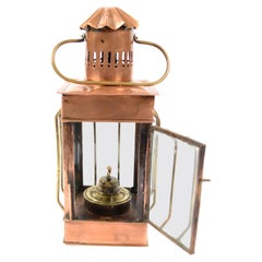 Antique Nautical Copper Lamp, Early 1900 Made in UK Very Good Condition