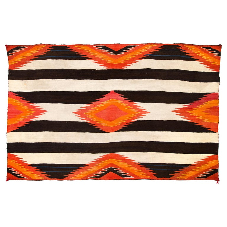 Antique Navajo Chiefs Blanket, Third Phase Variant Style, 19th Century