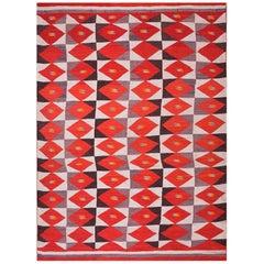 Antique Navajo Carpet - Transitional Period / Beeldlei