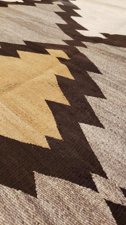 Antique Navajo Rug Handmade Wool Oriental Rug Gray