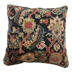Antique Navy Blue Persian Rug Pillow