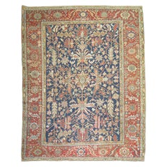 Antique Navy Field Persian Heriz Rug