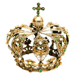 Antique Neapolitan Crown, Handmade in Italy, 18th Century