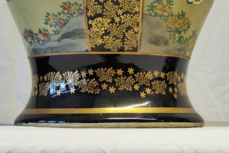 Antique Near Pair of Meiji Period Satsuma Vases, Japanese, 1868-1912 For Sale 1