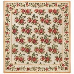 Antique English Needlepoint Carpet
