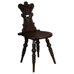 Antique Neo Renaissance Board Chair Historicism circa 1870, Oak C