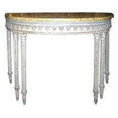 Antique Neoclassic Painted Console Table