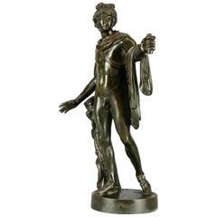 Antique Neoclassical Bronze Sculpture Apollo Belvedere Signed G. Zofoli