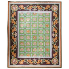 Antique Neoclassical Needlepoint Carpet
