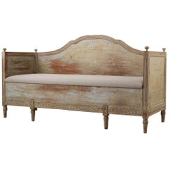 Antique Neoclassical Sofa from Northern Sweden