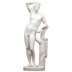 Antique Neoclassical Statuary Marble Statue