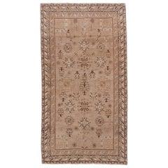 Antique Neutral Khotan Rug, Neutral Palette, Light Brown Field