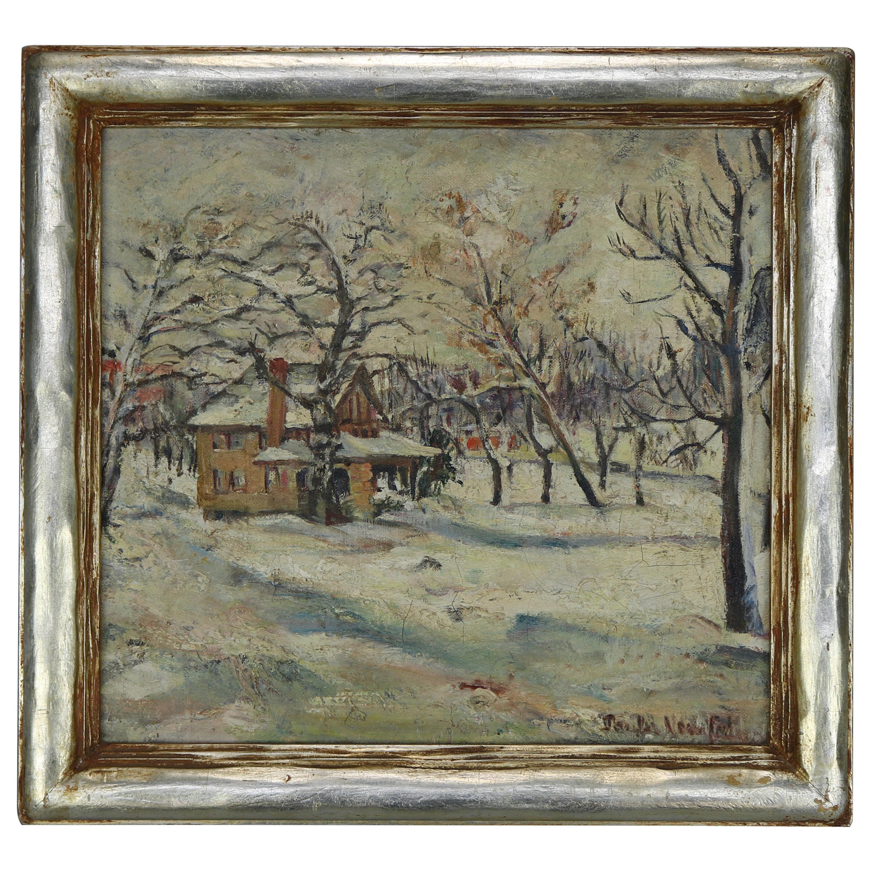 Antique New Hope Walter Baum School Impressionist Landscape Painting, Signed