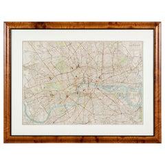 "Antique ""New Plan of London"" Map by John Bartholomew, 1900"