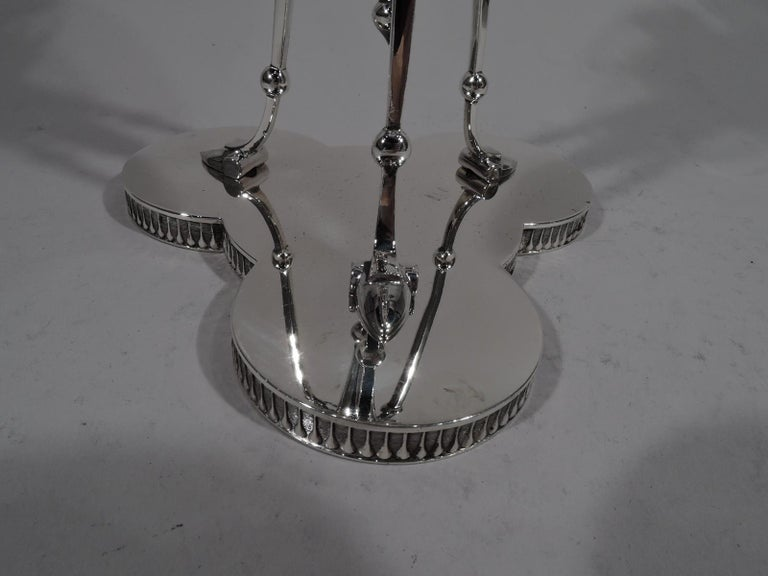 American Antique New York Sterling Silver Tall and Stylish Horse Compote For Sale