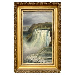 Antique Niagara Falls Painting