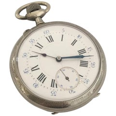 Antique Nicely Engraved Case Pocket Watch