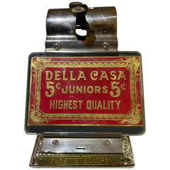 Antique Nickel Plated Cigar Cutter, Restored, ca. 1900