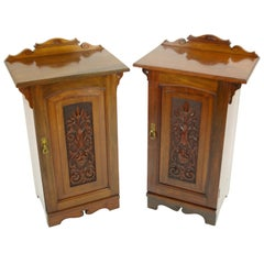 Antique Nightstands, Pair of Nightstands, Bedside Tables, Lamp Tables