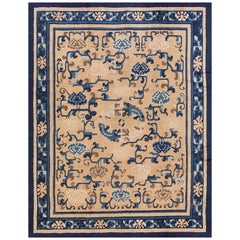 Antique Ningxia Chinese Carpet