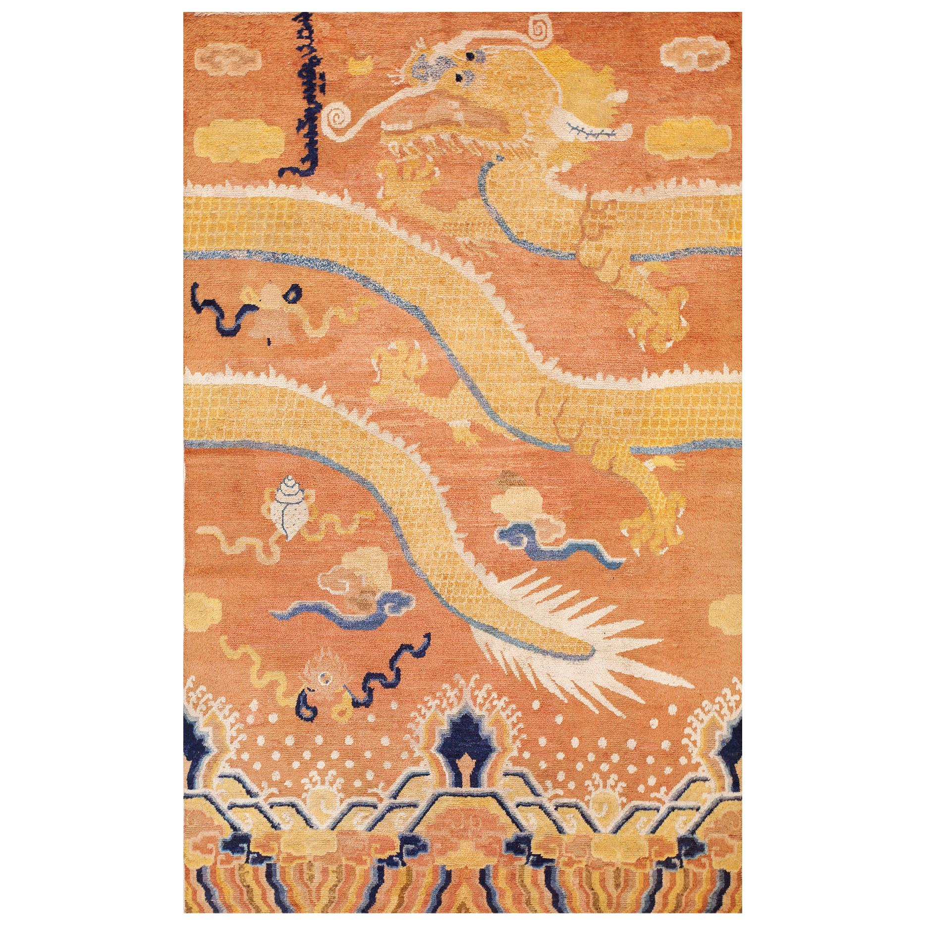 Antique Ningxia Pillar Carpet