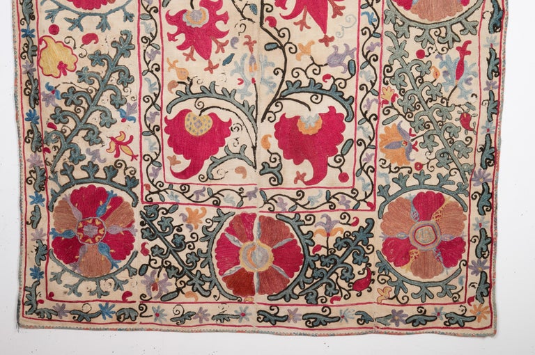 Antique Nom Suzani from Bukhara Uzbekistan, 19th Century In Good Condition In Istanbul, TR
