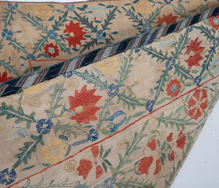 Silk Antique Nom Suzani from Bukhara, Uzbekistan, 19th Century For Sale