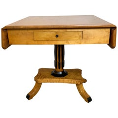 Antique Northern European Drop Leaf Sofa Table