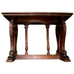 Antique Northern Italian Walnut Table