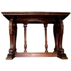 Antique Northern Italian Walnut Table